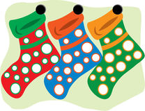 Three Stockings Stock Image