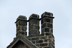 Three Stone Chimneys. Stock Image