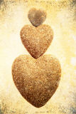 Three stone hearts Stock Photography