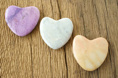 Three stone hearts Royalty Free Stock Images