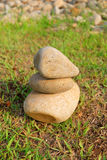Three Stone with Perfect Balance Stock Photo