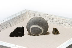 Three stones. In small Japanese to a garden Stock Photography