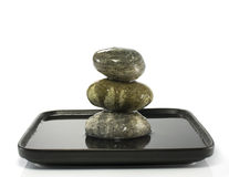 Three stones in balance Stock Images
