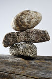 Three stones on each other Stock Photos