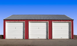 Three Storage Locker Doors Stock Image