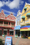 Three Stores in Oranjestad, Aruba Royalty Free Stock Image