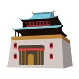 The three-storey building in Mongolia.Mongolian national Shrine of Mitarai.Mongolia single icon in cartoon style vector. Symbol stock web illustration Royalty Free Stock Photography