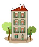 Three-storey building. Vector illustration of a building, file EPS 8 Royalty Free Illustration