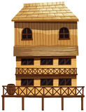 Three storey house made of wood Royalty Free Stock Image