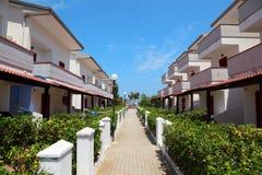 Three-storey villas with balconies Royalty Free Stock Photos
