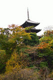 Three Storied Pagoda in Japan Stock Photography