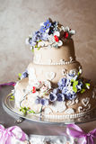 Three-storied wedding cake Royalty Free Stock Photography