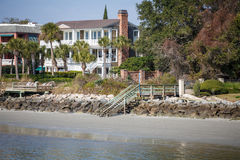 Three Story Coastal Home Royalty Free Stock Images