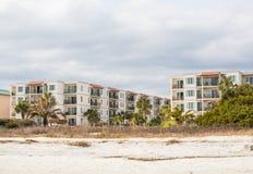 Three Story Tropical Beach Condos Royalty Free Stock Photo