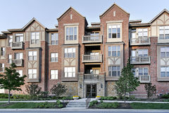 Three story tudor style condominium Royalty Free Stock Photo