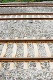 Three straight railway. Straight Railway, no Train, Public Transportation Stock Image
