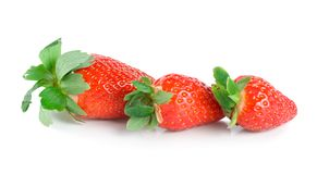 Three strawberries(0).jpg Royalty Free Stock Photography