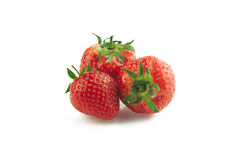 Three strawberries Royalty Free Stock Photos