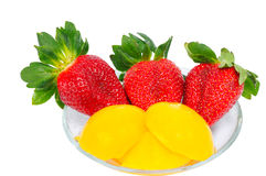 Three strawberry Royalty Free Stock Photo