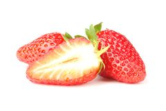 Three strawberry Royalty Free Stock Images