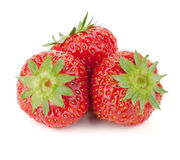 Three strawberry fruits Royalty Free Stock Photos