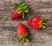 Three strawberry Royalty Free Stock Photos