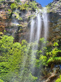 Three-stream waterfall in awesome mountains Royalty Free Stock Photo