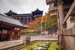 Three streams of Otowa waterfall at Kiyomizu-dera temple in Kyoto Stock Image