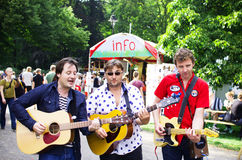 Three street musicians Royalty Free Stock Image