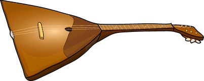 Three-stringed balalaika. In . music strings bow musical instrument vertically Royalty Free Stock Images