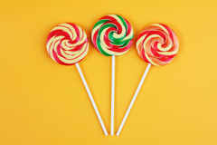 Three striped lollipop Stock Photo