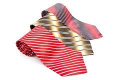 Three striped necktie Royalty Free Stock Photos