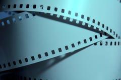 Three strips of negative films. Stock Photos