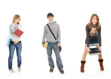 The three students Stock Images