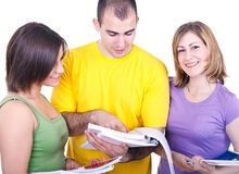 Three students learning Royalty Free Stock Photo