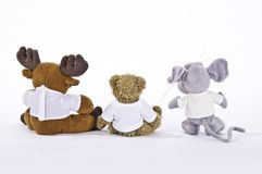 Three stuffed animals Royalty Free Stock Photography