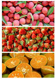 Three style fruit Stock Images