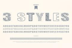Three style Stock Image