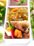 Three style Thai Chili paste (Nam Prik) - Popular Thai food Royalty Free Stock Photography