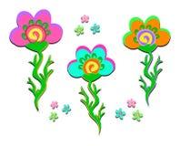 Three Stylish Flowers Royalty Free Stock Photography