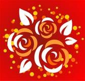 Three stylized roses Royalty Free Stock Image