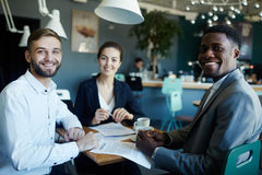 Three Successful Business Partners royalty free stock images