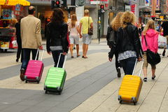 Three suitcases Royalty Free Stock Images