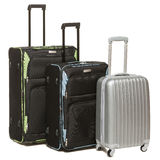 Three suitcases over white Royalty Free Stock Image