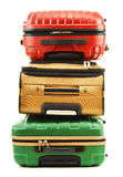 Three suitcases on white background Stock Photography