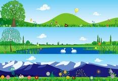 Three summer banners Stock Illustration
