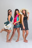 Three Summer Friends Royalty Free Stock Images