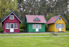 Three Summer Houses Stock Photos