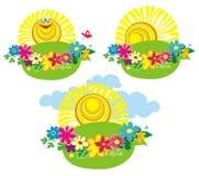 Three summer icons. Vector illustration Royalty Free Stock Photo