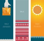 Three Summer Sales Banners Royalty Free Stock Photo
